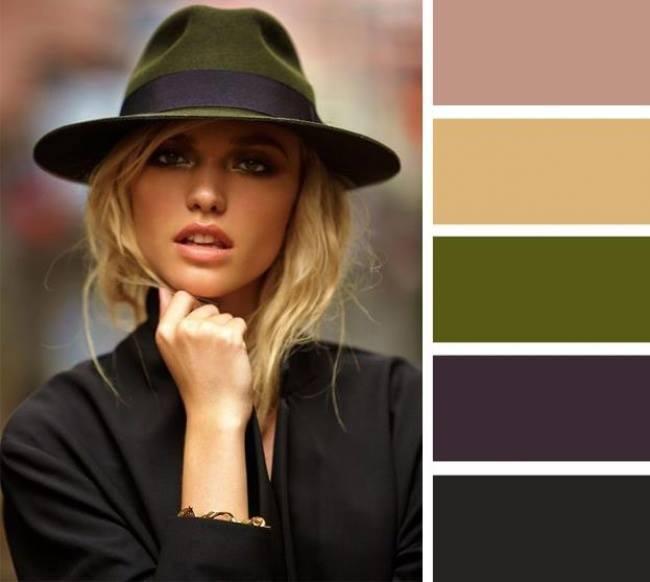 como combinar cores com verde oliva