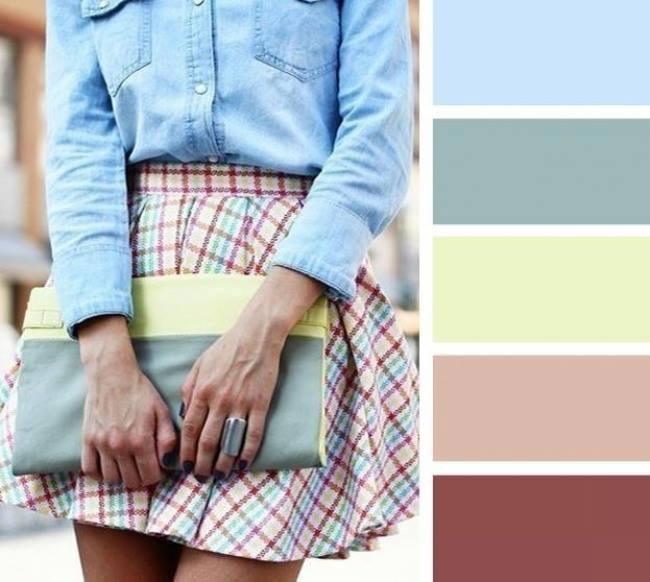 como combinar cores em tons azul