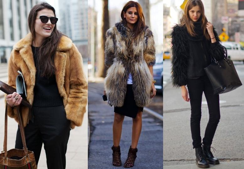 como usar casacos de pele