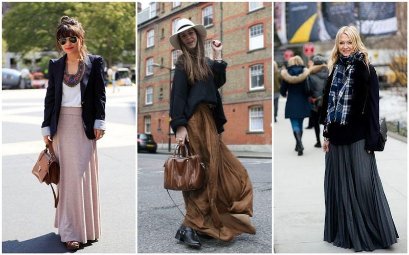 como usar saia longa