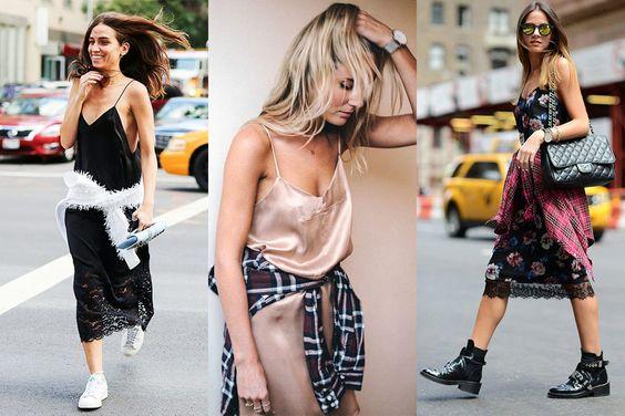 dica de styling slip dress