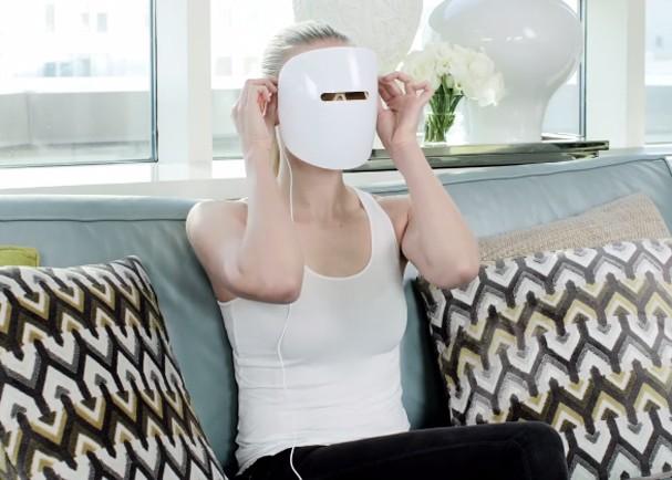 máscara de LED para a pele