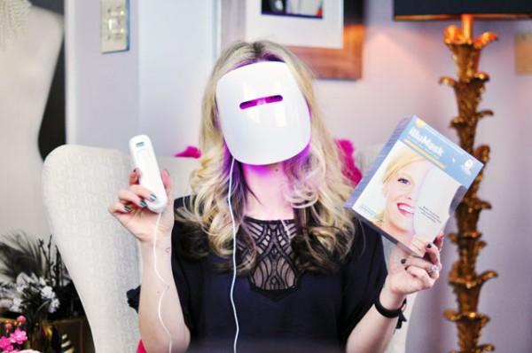 máscara de led para tratamentos estéticos
