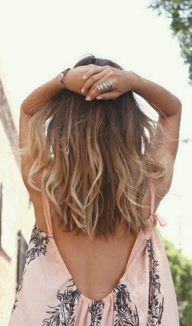 ombre hair cabelo médio