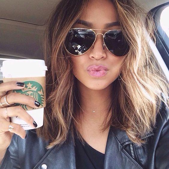 ombre hair em cabelo médio