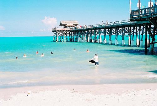 praia Cocoa Beach na flórida