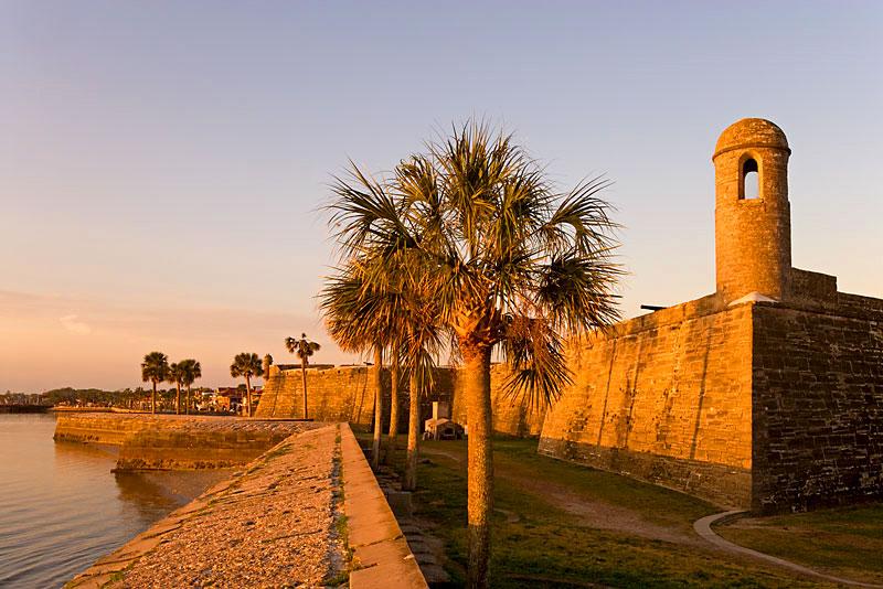praia St. Augustine na flórida