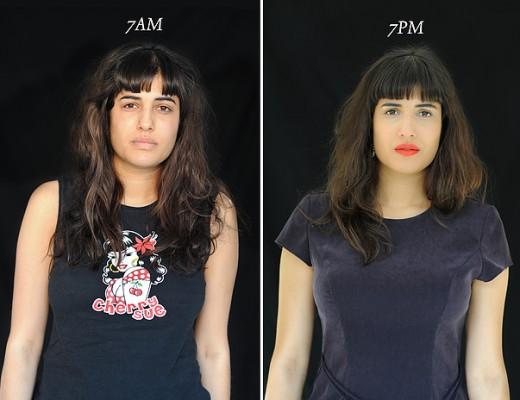 projeto fotográfico mostra as pessoas as 7 horas da manhã e 7 horas da noite 10