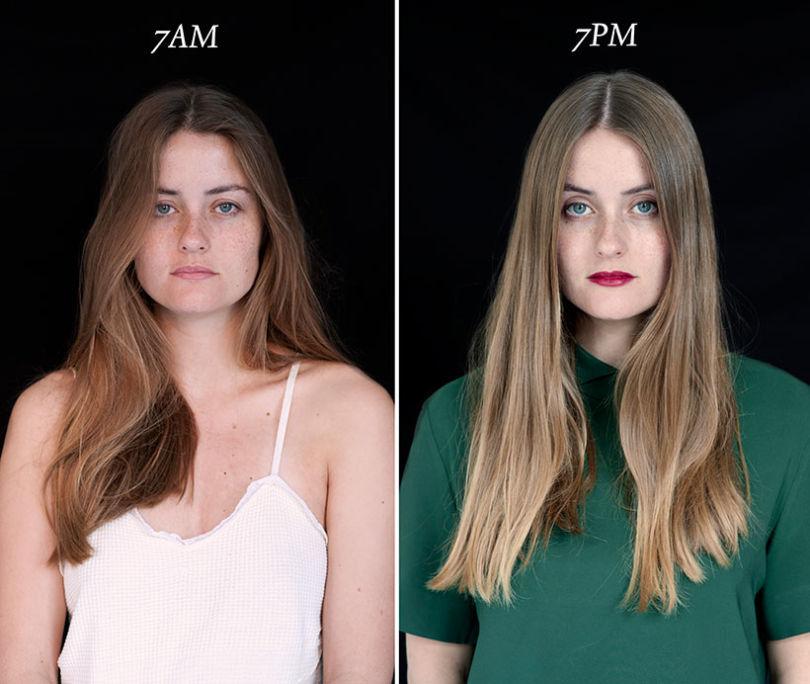 projeto fotográfico mostra as pessoas as 7 horas da manhã e 7 horas da noite 3