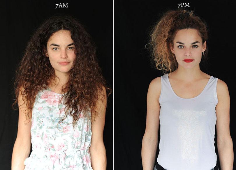 projeto fotográfico mostra as pessoas as 7 horas da manhã e 7 horas da noite 6