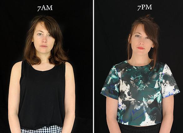 projeto fotográfico mostra as pessoas as 7 horas da manhã e 7 horas da noite 9