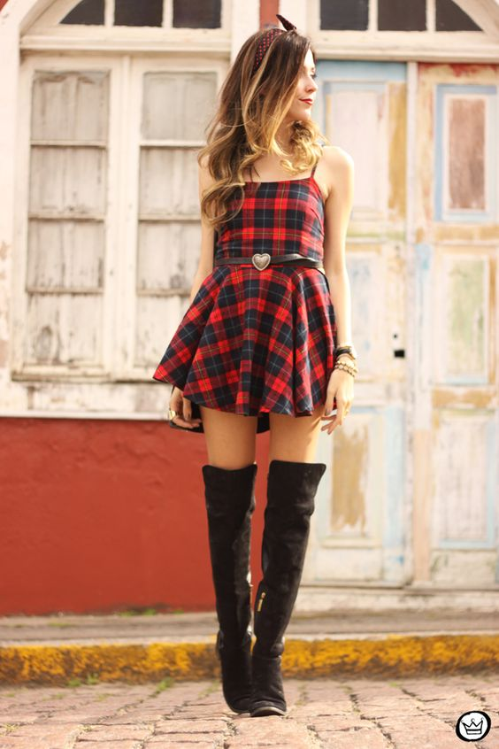 vestido xadrez festa junina