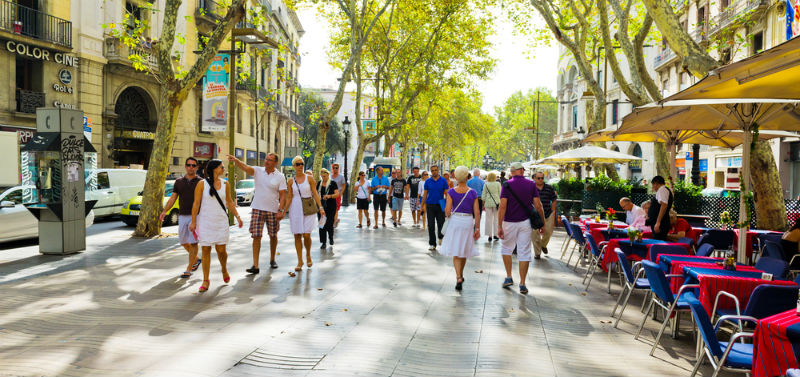 As Ramblas as ruas mais famosas de Barcelona