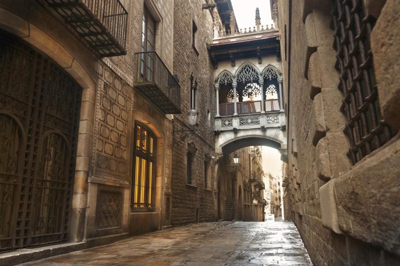 Bairro Gótico bairro mais antigo da cidade