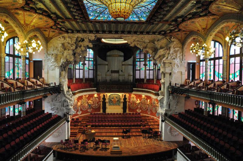 Palácio de Música Catalã em barcelona