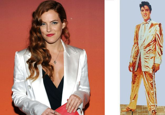 Riley Keough e  Elvis Presley blazer brilhante