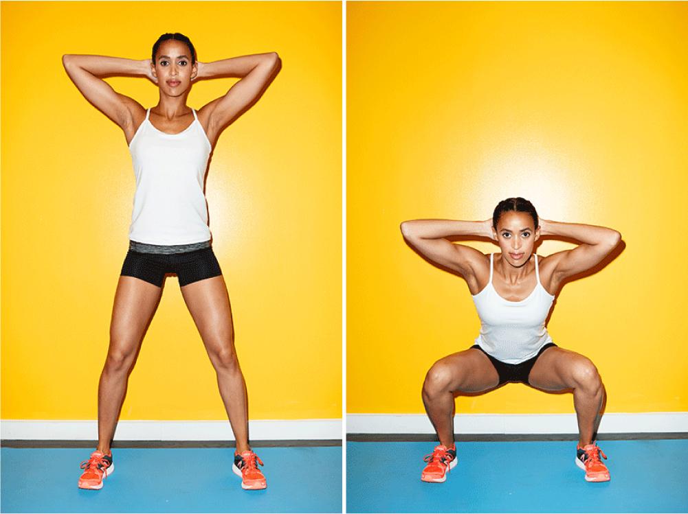 agachamento complexo para pernas e bunda