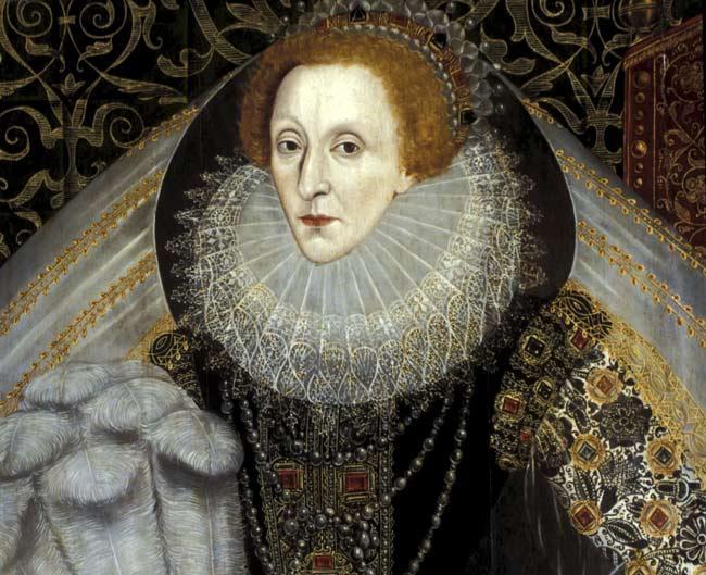 rainha Elisabeth I batom vermelho