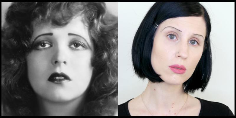 sobrancelha 1920 vamp estrela do cinema mudo