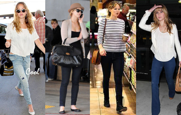 Jennifer Lawrence estilo looks