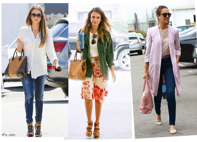 Jessica Alba looks street style looks