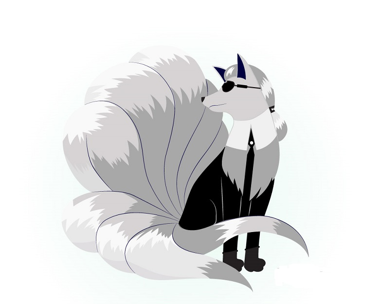 Karl Lagerfeld como Ninetales