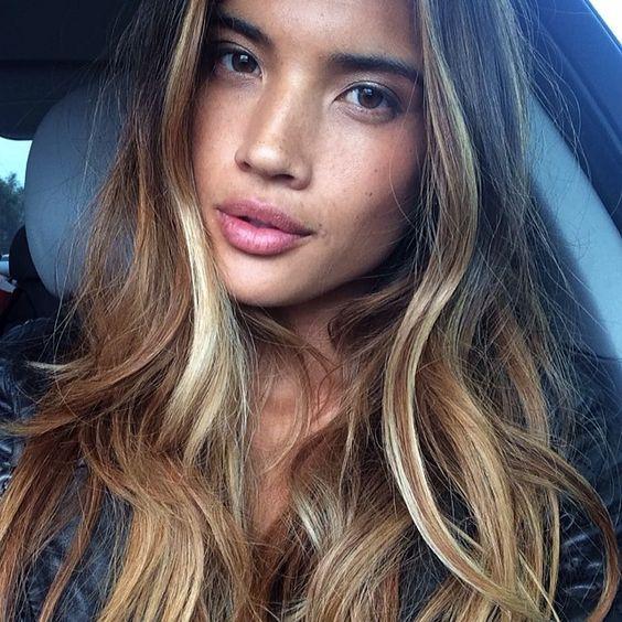 Strobing Hair nova coloração para cabelos tendência