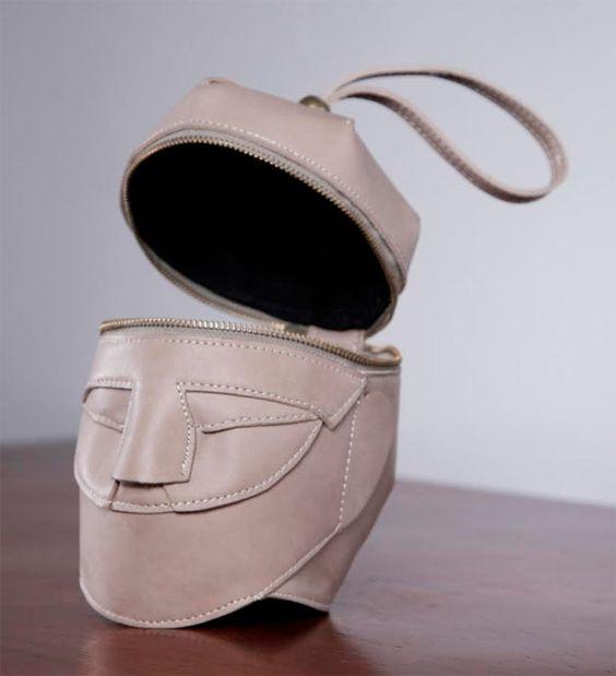 bolsa dvertida de cabeça - Salir de lo obvio con bolsos diferentes y divertidos