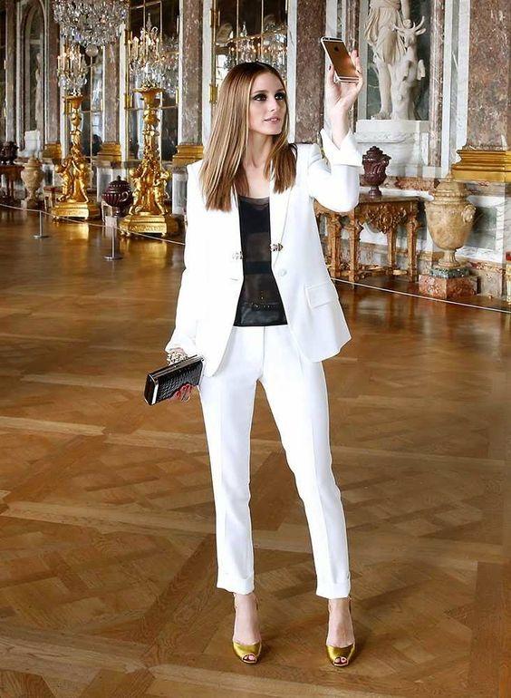 como usar blazer branco looks de inspiração 10