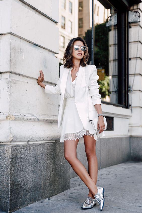 como usar blazer branco looks de inspiração 2