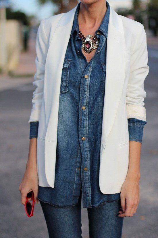 como usar blazer branco looks de inspiração