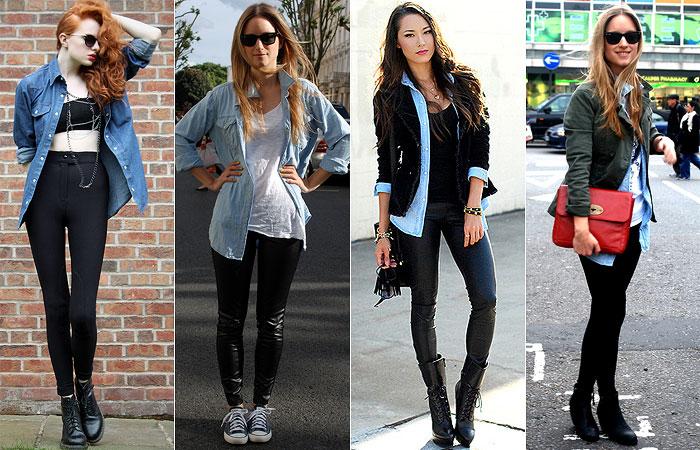 como usar camisa jeans aberta