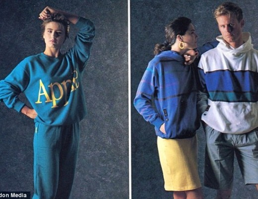 coleção de roupas da Apple em 1980 2