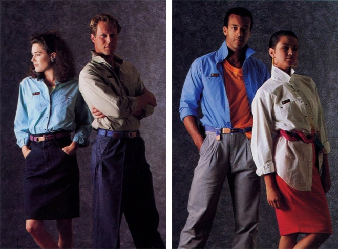 coleção de roupas da Apple em 1980 6