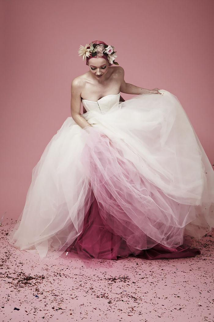 vestido casamento com saia em degradê