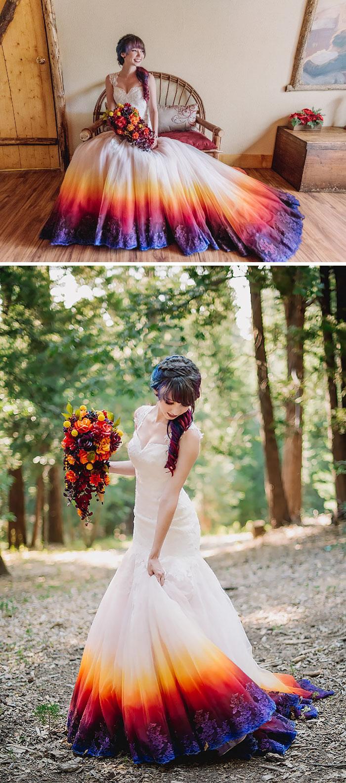 vestido de casamento degradê