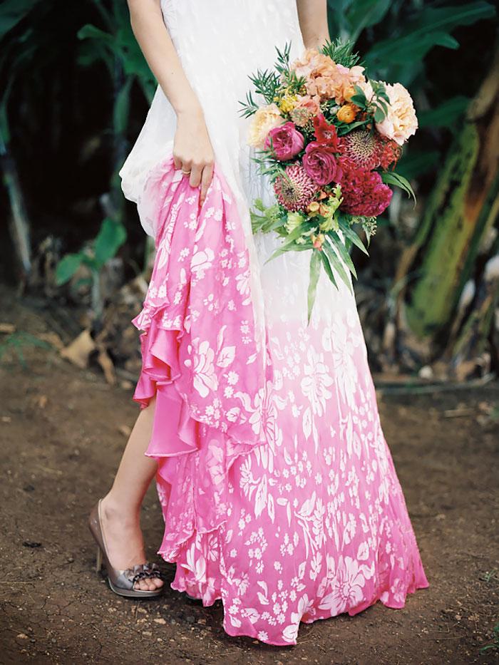 vestido de casamento em degradê