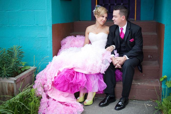 vestido de casamento modernos e coloridos