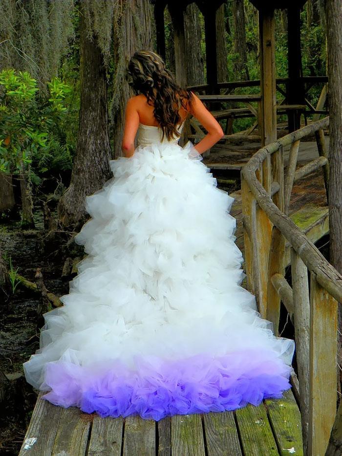 vestidos de casamento com barra da saia em degradê