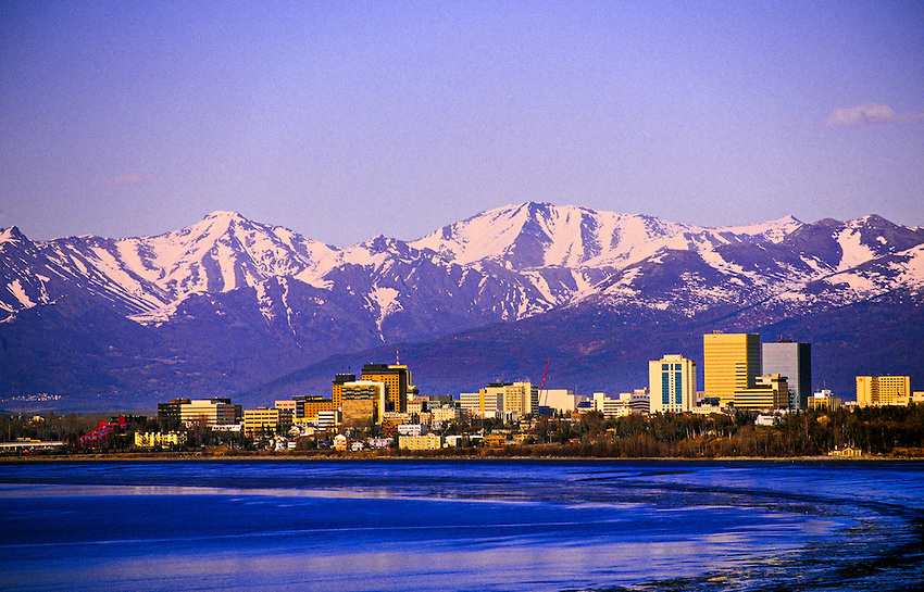 Downtown Anchorage, Alaska USA