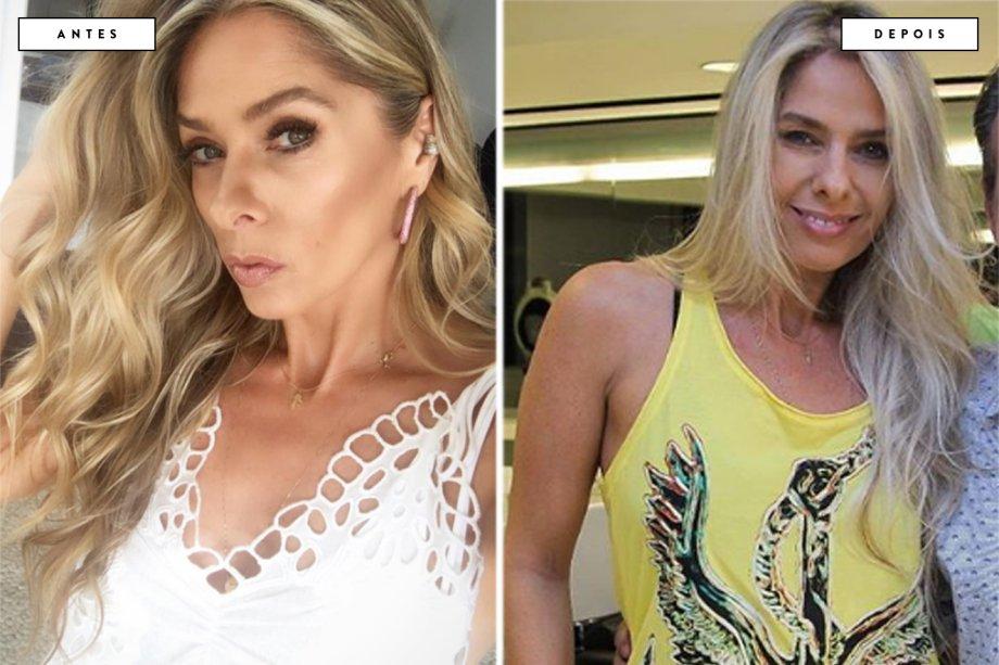 cabelo antes e depois Adriane Galisteu