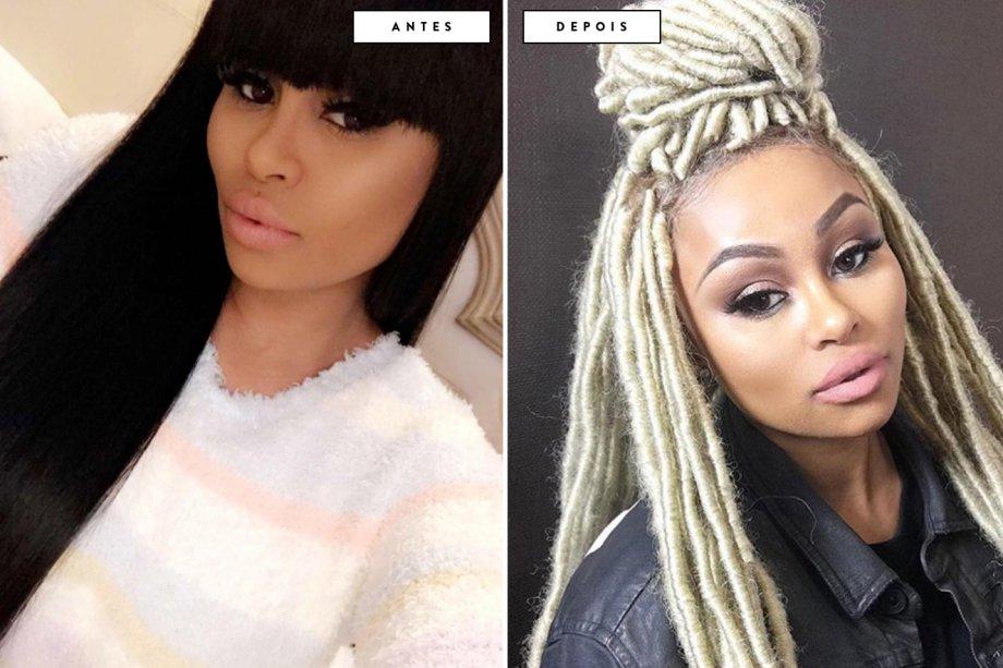 cabelo antes e depois Blac Chyna