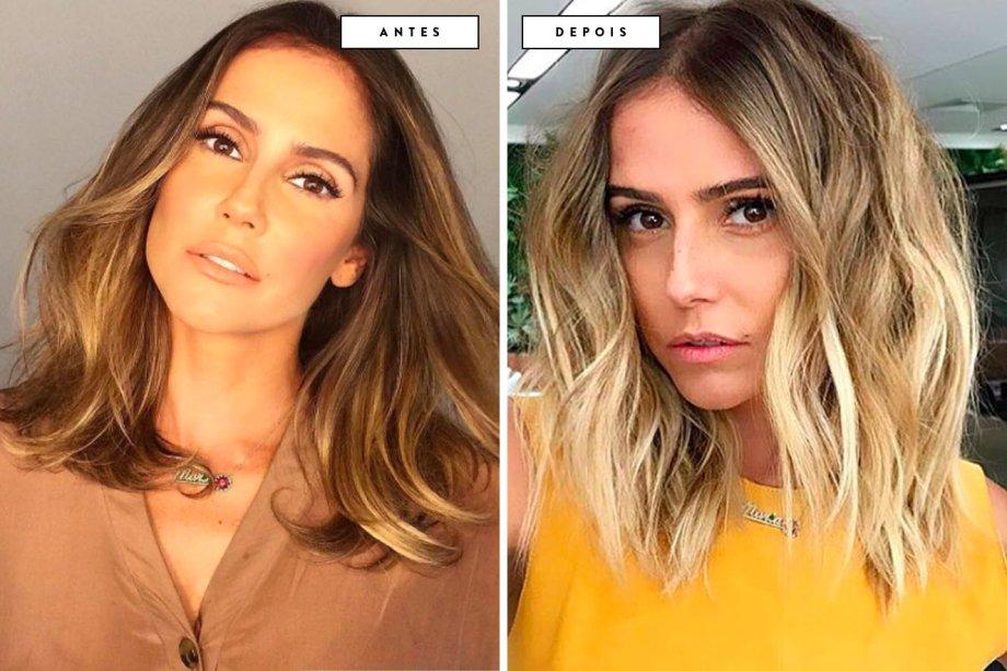 cabelo antes e depois Deborah Secco