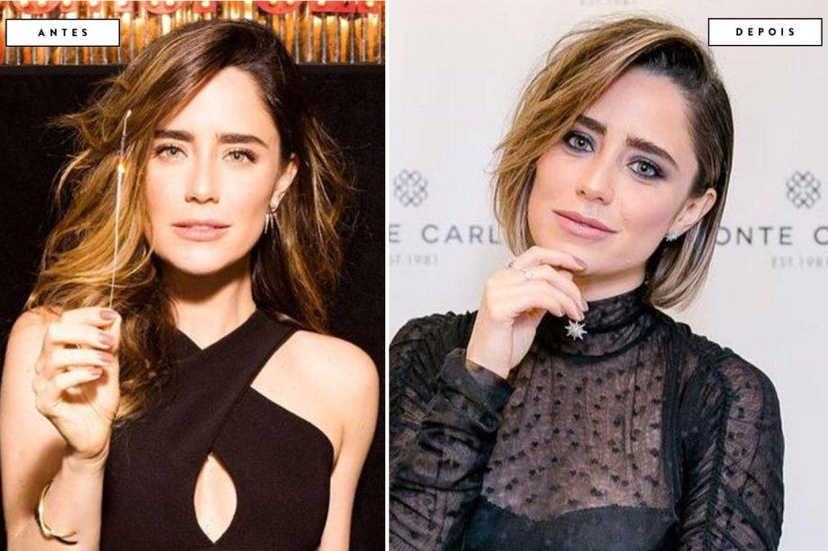 cabelo antes e depois Fernanda Vasconcellos