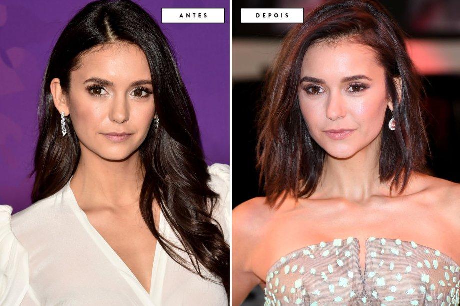 cabelo antes e depois Nina Dobrev