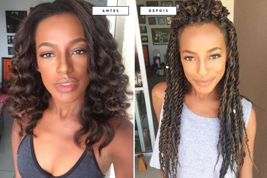 cabelo antes e depois Pathy Dejesus