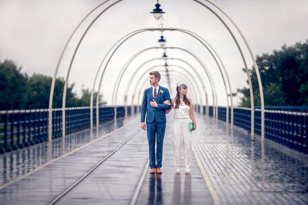 fotos noiva casamento macacão