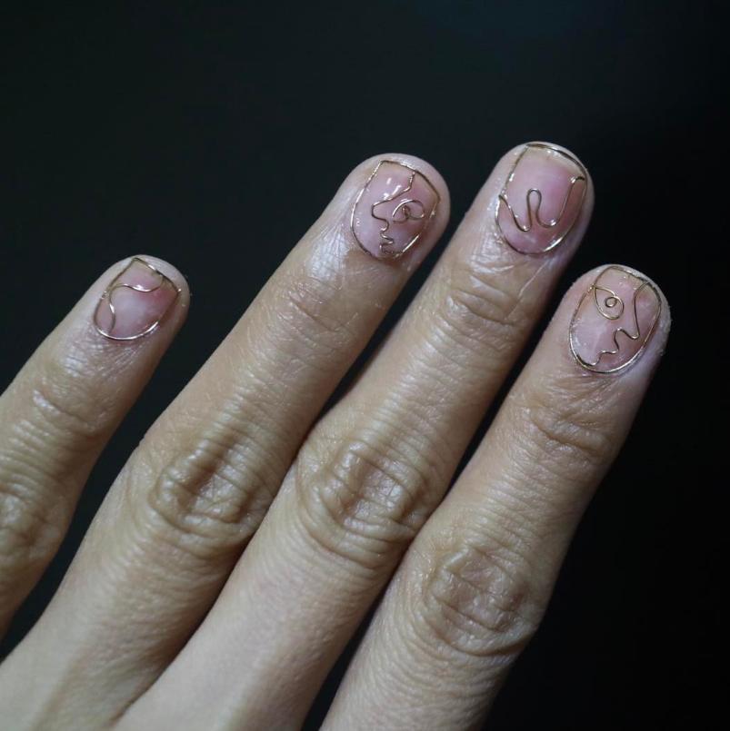 wirework nails tendência unhas 2017