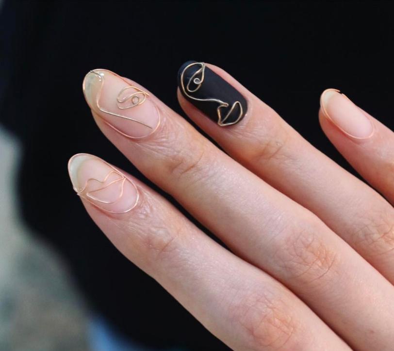 wirework nails tendência unhas com arame