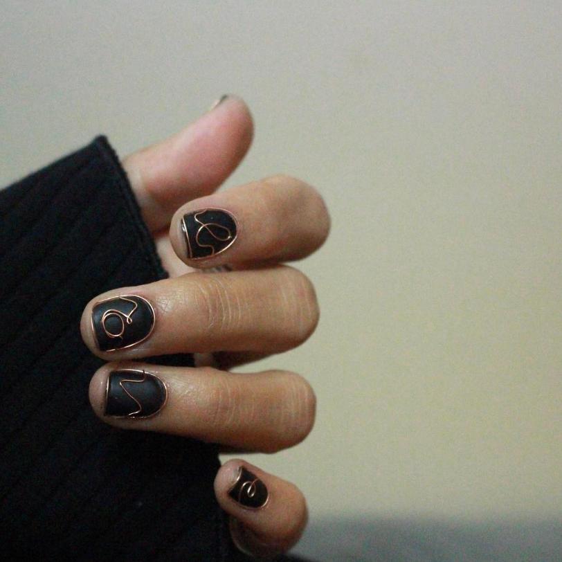 wirework nails unhas com arame